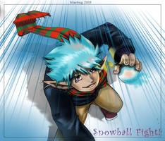 Snowball fight by deviantbluebug