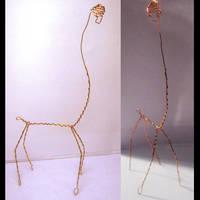 Mini Skeleton Giraffe by JPCopper