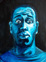 Blue Self portrait by Qua-si