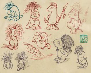 Pygmies! by lirale