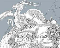 Greedy Dragon lineart by lirale