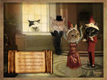Cats in hats by CassiopeiaArt