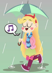 Singing In the Rain by Febriananda