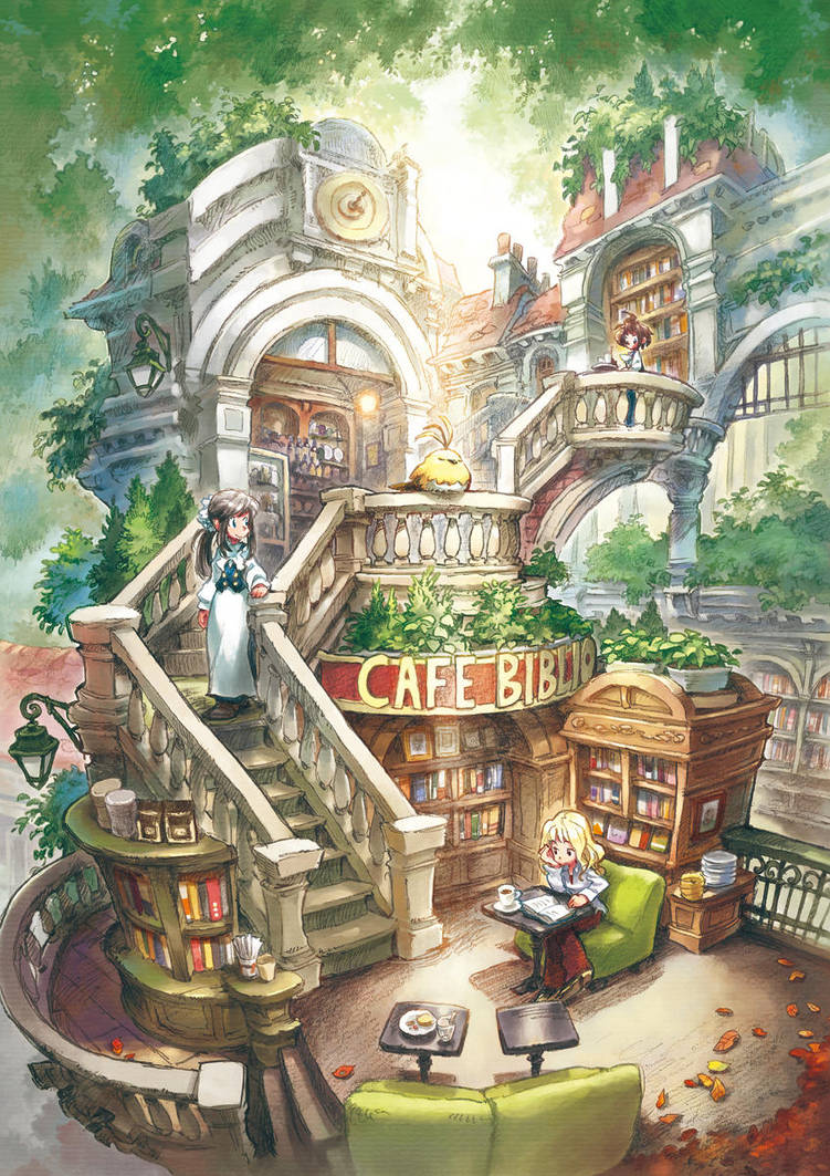 Library cafe by matsukitchi