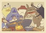 Moomin visits the Bath House by OKODAMA