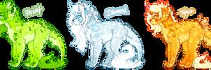 Precious Gem Princesses - Flatsales by pandoras-island