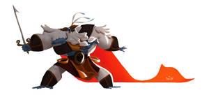 Warrior Yeti by Pepe-Navarro
