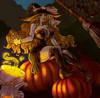 Rangiku as witch by GrayInBlack