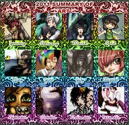 A year of art by RainbowRoosta