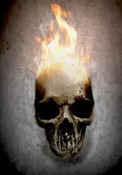Burning Skull by YogiSan123