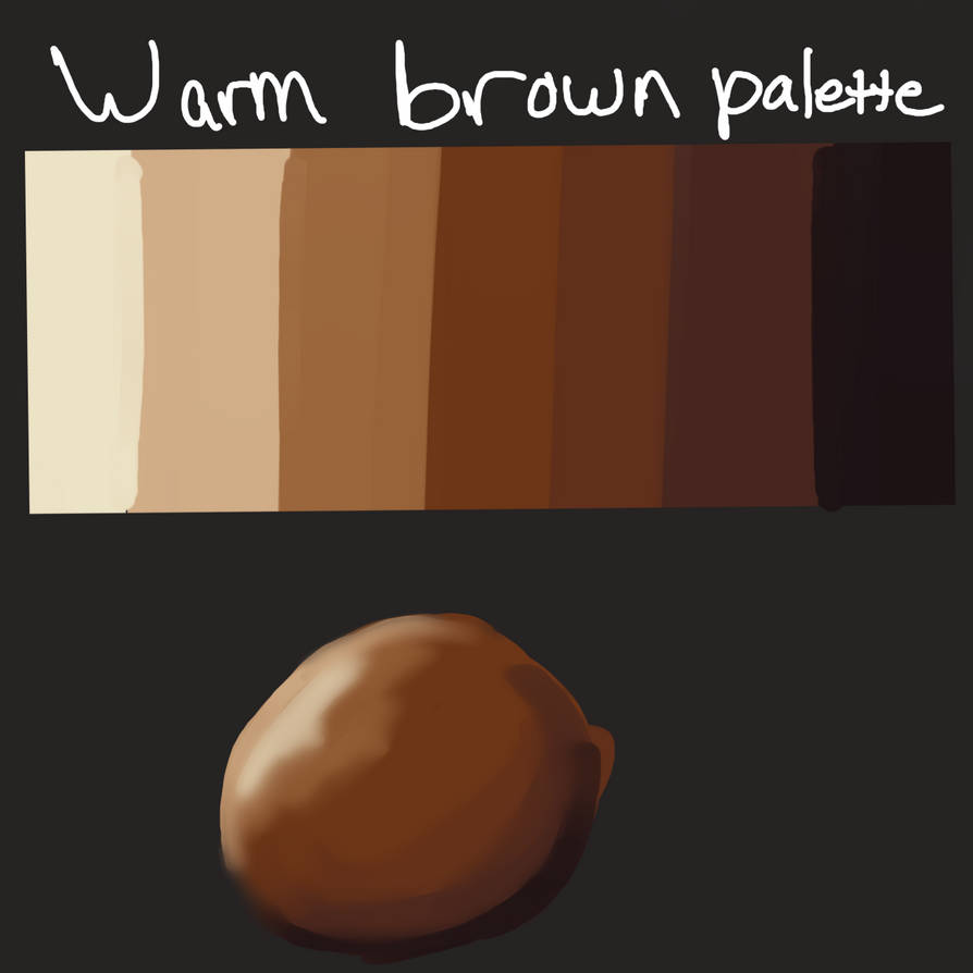 Brown Color Palette By Czyhyena
