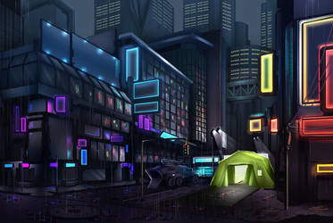 Cyberpunk Environment by WH1T3F4N6