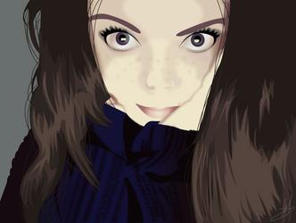 Vector Self-Portrait by Mz-bitch