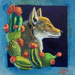 Cactus Coyote by Toramelle