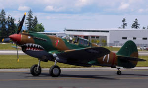 P-40C Taxi by shelbs2