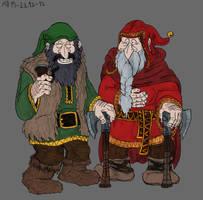 Dwalin and Balin by Mara999