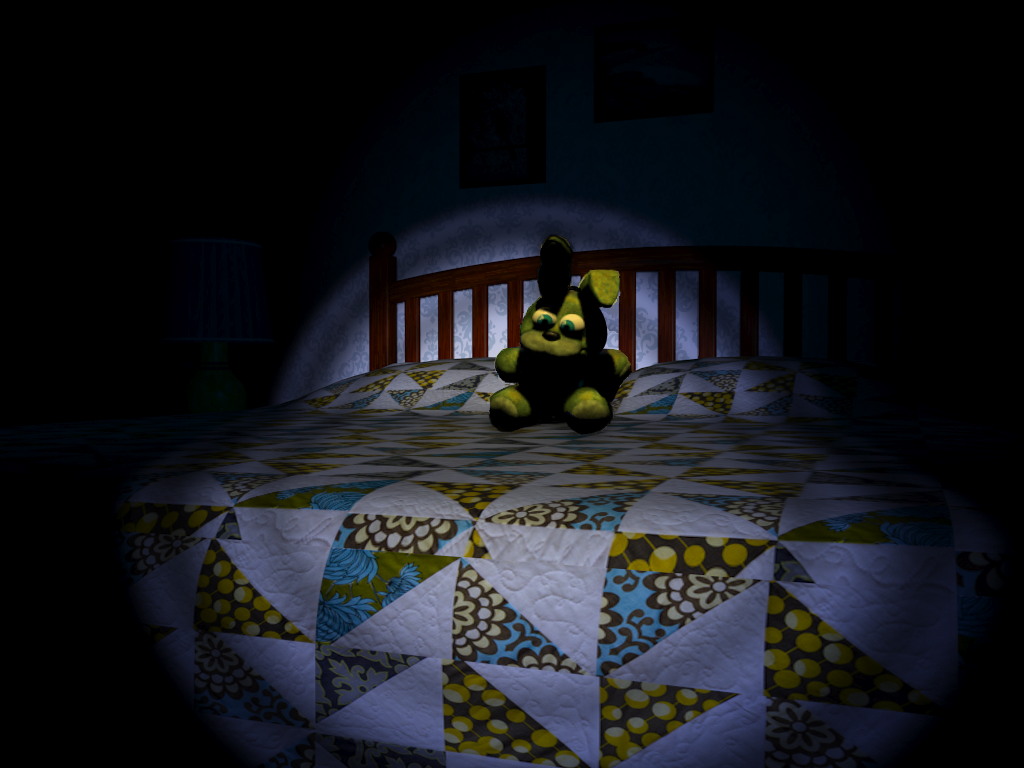 Spring Bonnie Plush On Bed By Corruptedspringtrap On Deviantart