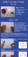 Needle tatting tutorial part 1 by digikijo