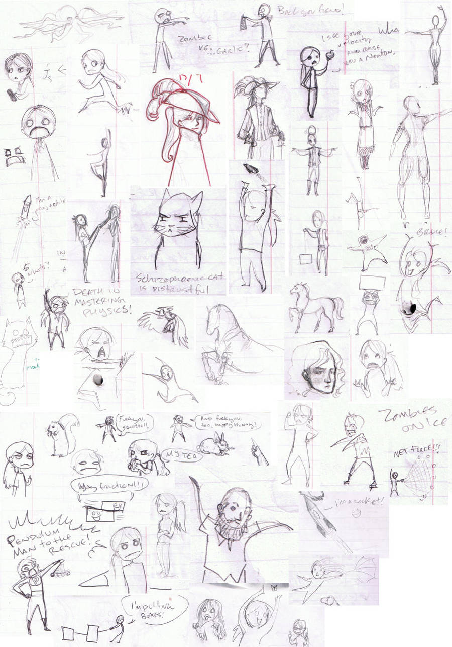 Deranged Doodles from Physics by Goshawk