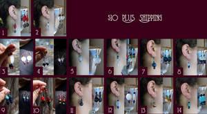 Ten Dollar Earrings by Goshawk