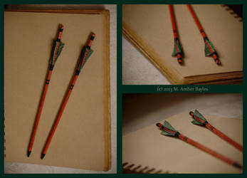 Jangharat's Custom Hair Arrow Pair Commission by Goshawk