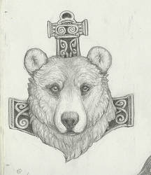 Memorial Bear Tattoo by Goshawk