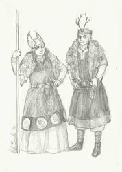 Freya And Freyr by Goshawk