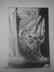 Inktober little bat by Zykido