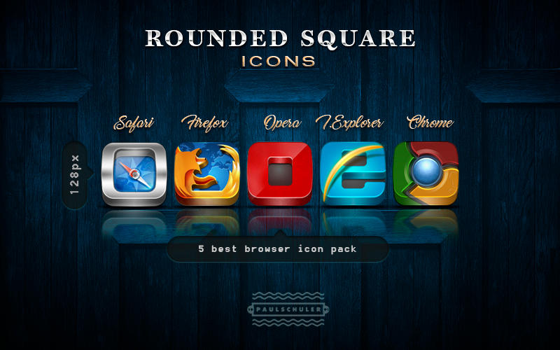 Rounded Square icons by Schulerr