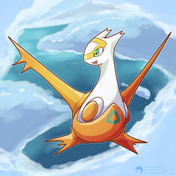 #380 - The Eon Pokemon - Latias (Shiny) by Inkblot123