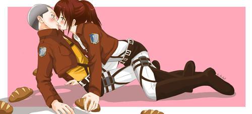 Shingeki no Kyojin - Connie x Sasha x Bread by barbypornea