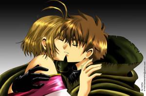 TRC: SyaoranSakura Kiss by barbypornea