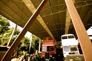 Urbex - Red Bus Scrapyard by KajiyaEol
