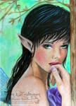Shy Fairy by WitchiArt