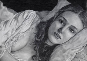 Keira Knightley as Elizabeth by WitchiArt