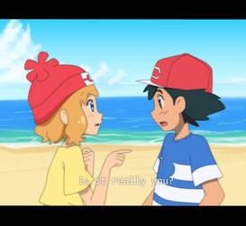 Serena meeting Ash in Alola! by Crollio
