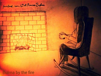 Bulma by the fire by SGAlteran
