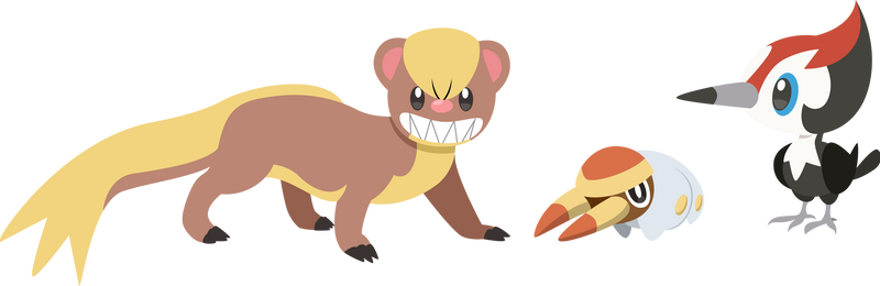 Pikipek Yungoos Grubbinpokemon Sun Moon Vector By Alexalan On