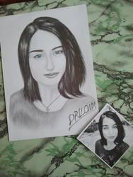 Drawing - Elizabeth_05 by eduaarti