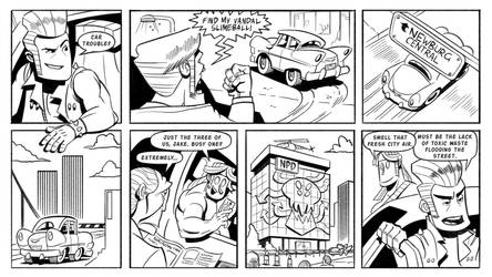 Booger and the Losers: Graffiti Pg6 by StickDinosaur
