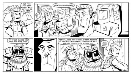 Booger and the Losers: Graffiti Pg8 by StickDinosaur