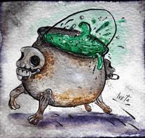 Drawtober 28. Rusty Cauldron by Rednon