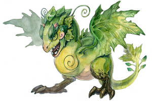 Baby Forest Dragon by Kutty-Sark