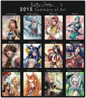 2015 Summary of Art by Kutty-Sark