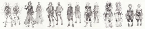 Costume designs for KitJoYuki by Kutty-Sark