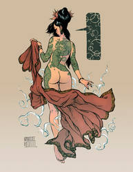 Bathhouse Princess Colored by andrewmar