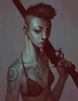 Fighter not a lover by andrewmar