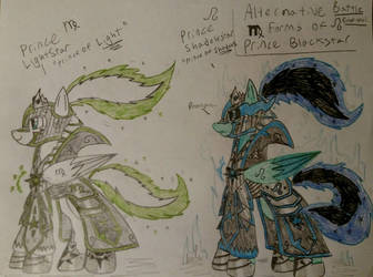 Blackstars Leo and Virgo Forms by Casirethedragon11