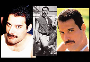 Freddie Mercury times 3 by MandyB82