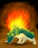 Typhlosion's Explosion by soar-of-the-hawk
